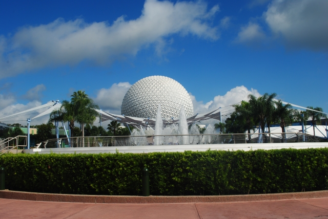 the ball at the Epcot International Food and Wine Festival