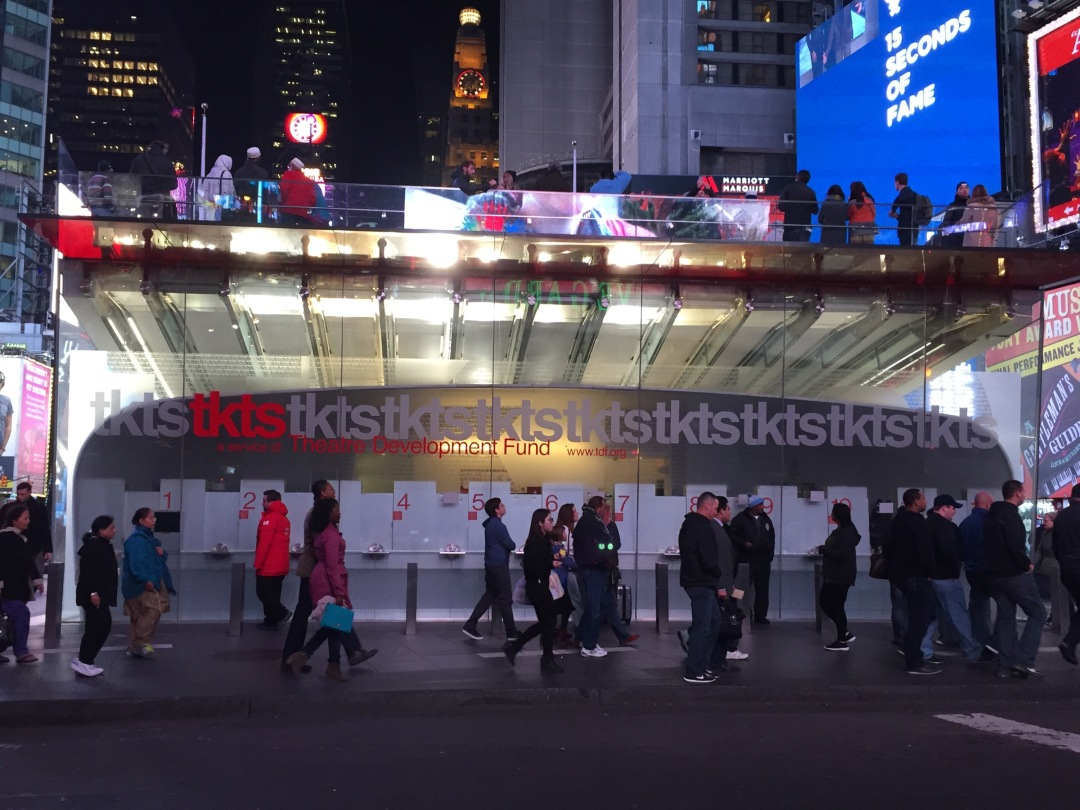 take a cheap trip to NYC and see Broadway by buying tickets at TKTS