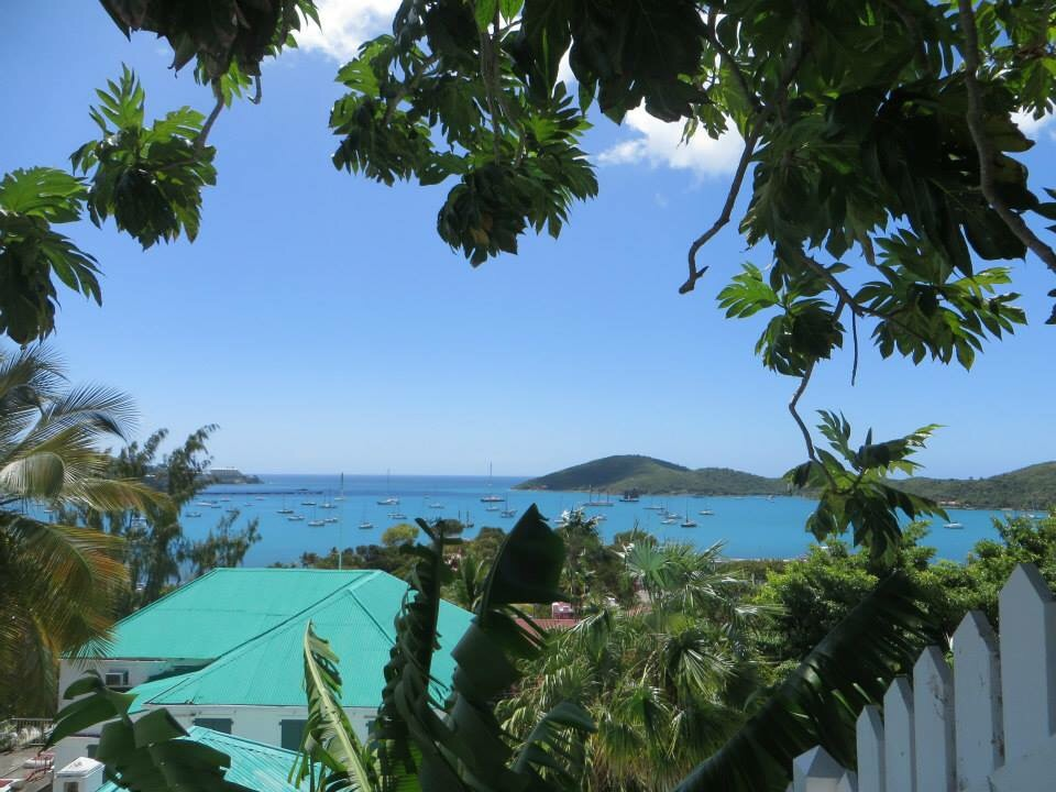 overlooking the ocean in St. Thomas in the Virgin Islands was on our travel bucket list