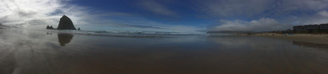 panoramic photo of the Oregon Coast