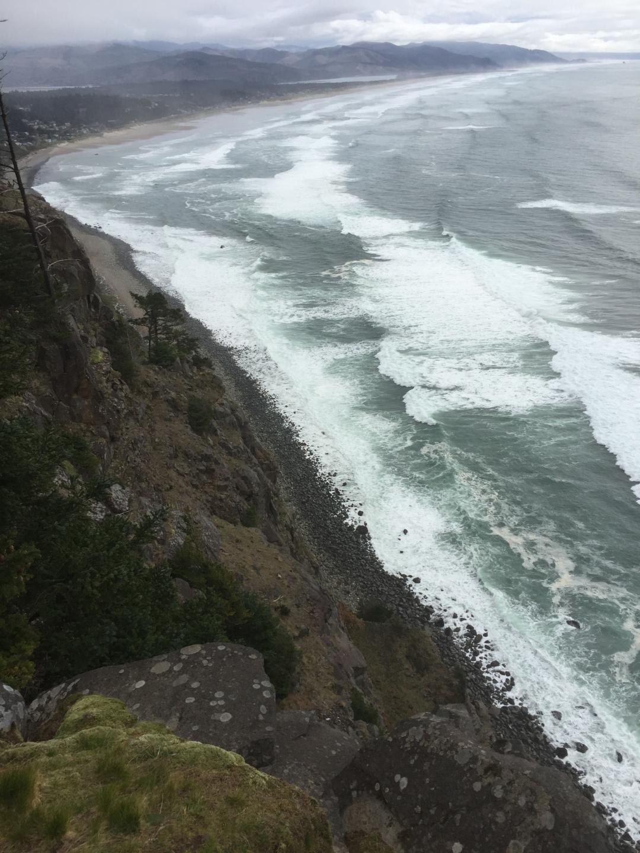overlooking the Oregon Coast
