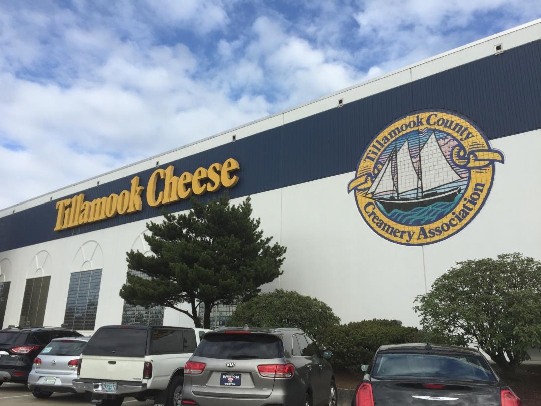 Tillamook Cheese factory near the Oregon Coast