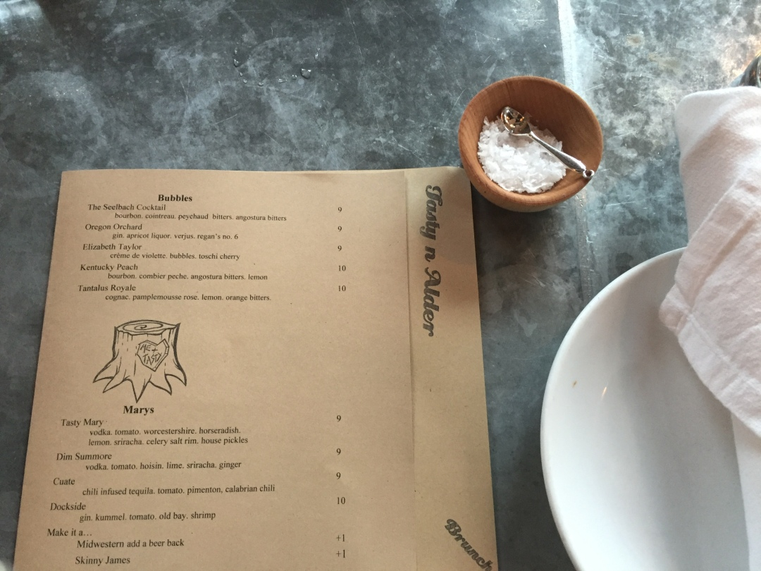 Tasty and Alder is one of the best brunch places in Portland, Oregon