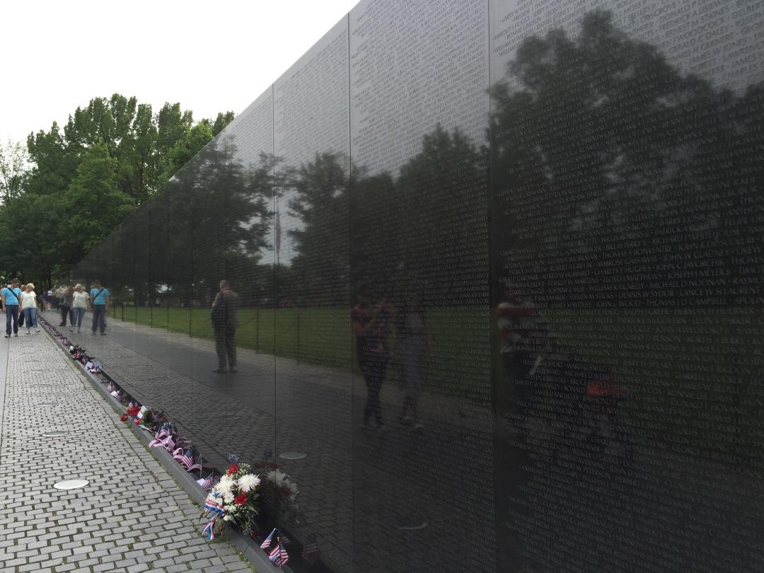 the Vietnam Memorial in Washington, D.C.