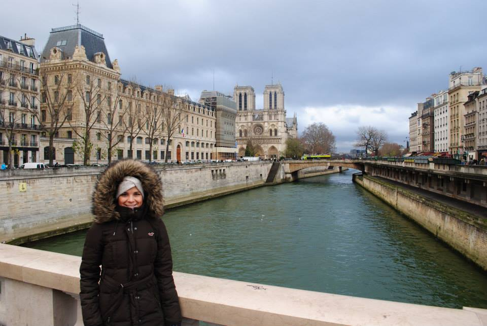 Notre Dame in the winter