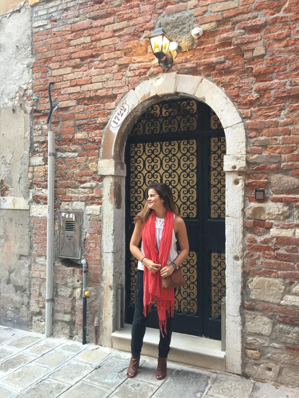 in the streets in Venice