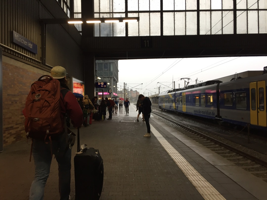 taking the train from Cologne to Munich
