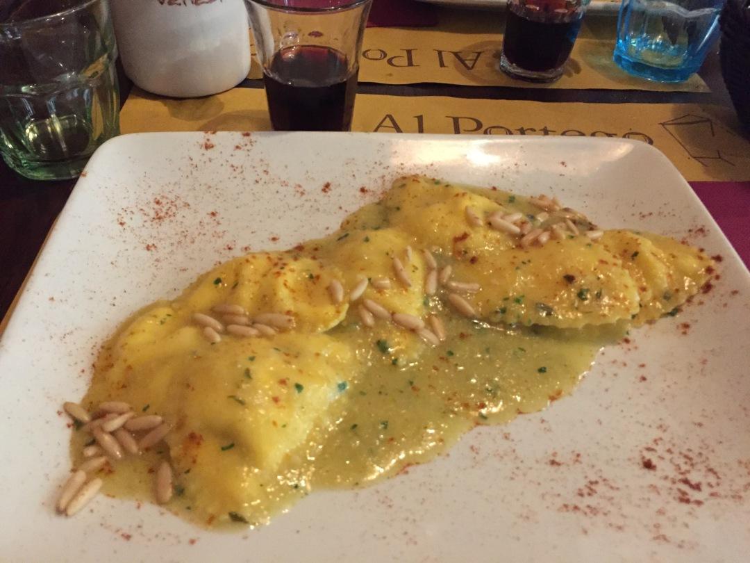 delicious pasta in Venice Italy