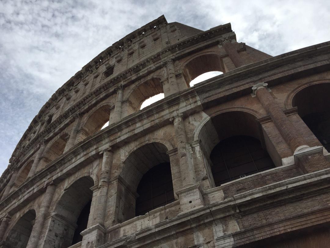 the Roman Colliseum in Rome Italy