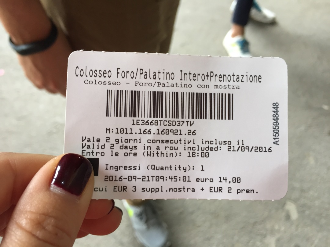 tickets to the Roman Coliseum