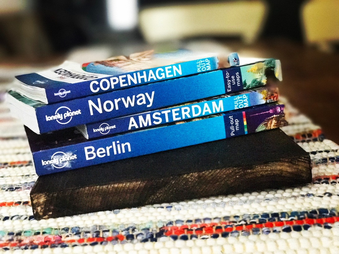 planning travel to norway with books and information