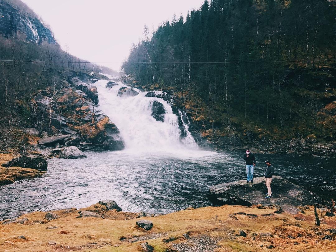 waterfalls in western Norway