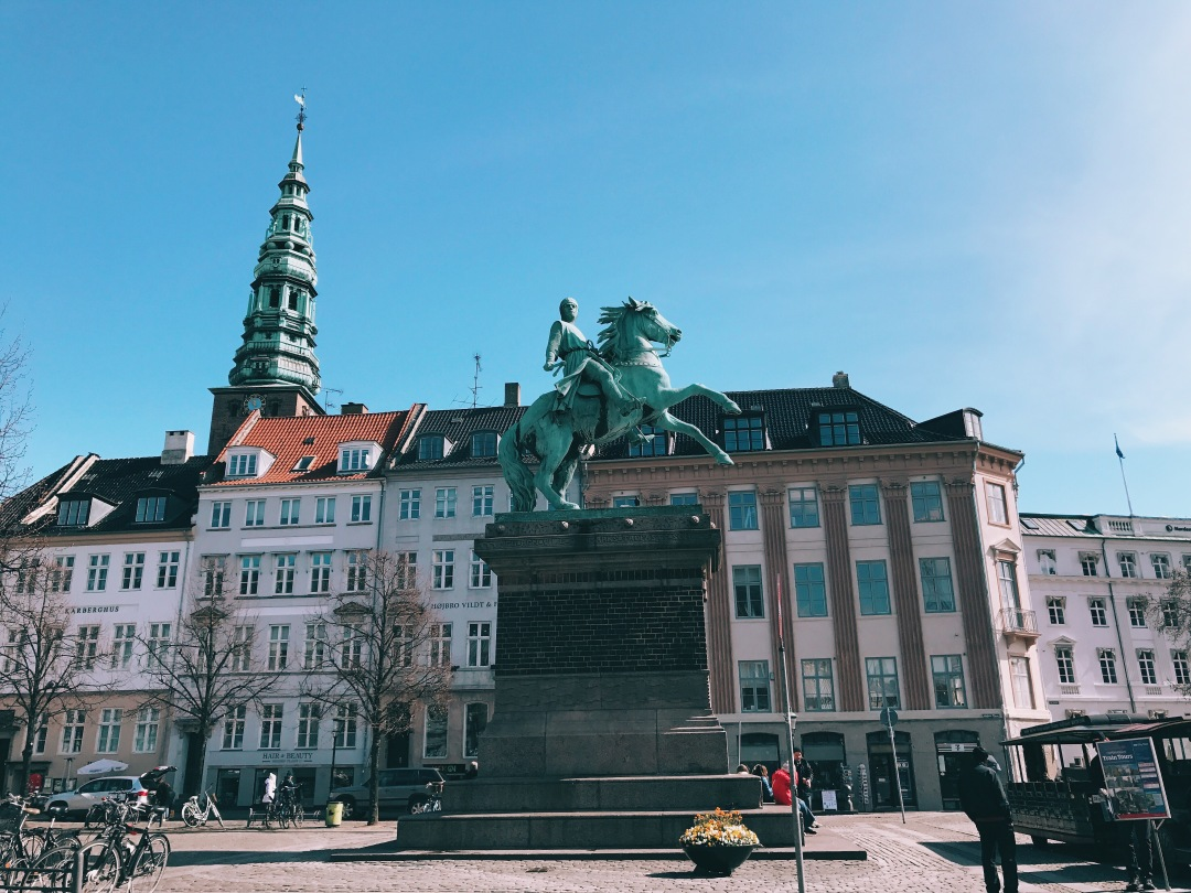 Bishop statue near the Copenhagen City Hall